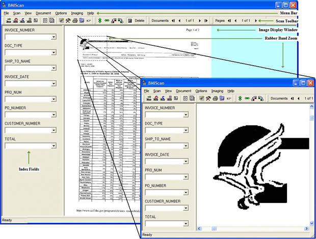 BMIScan Screen Shot from BMI Productivity